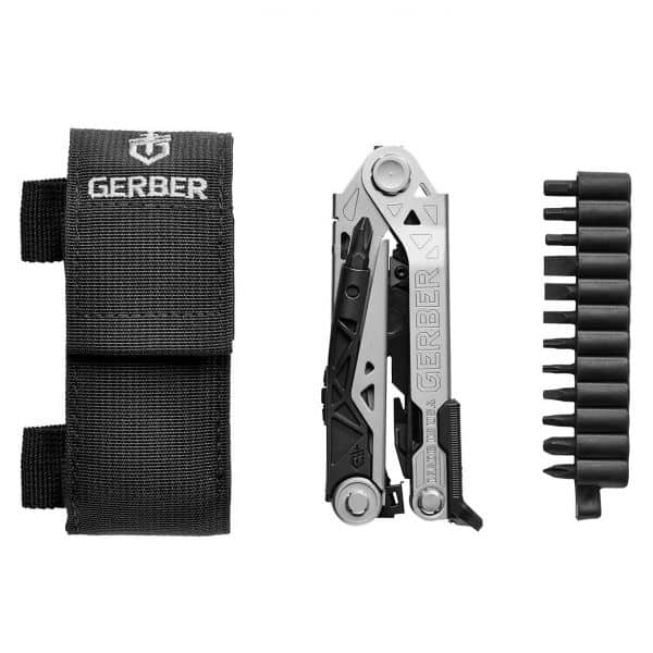 Gerber Center-Drive multitool med bit set og skede